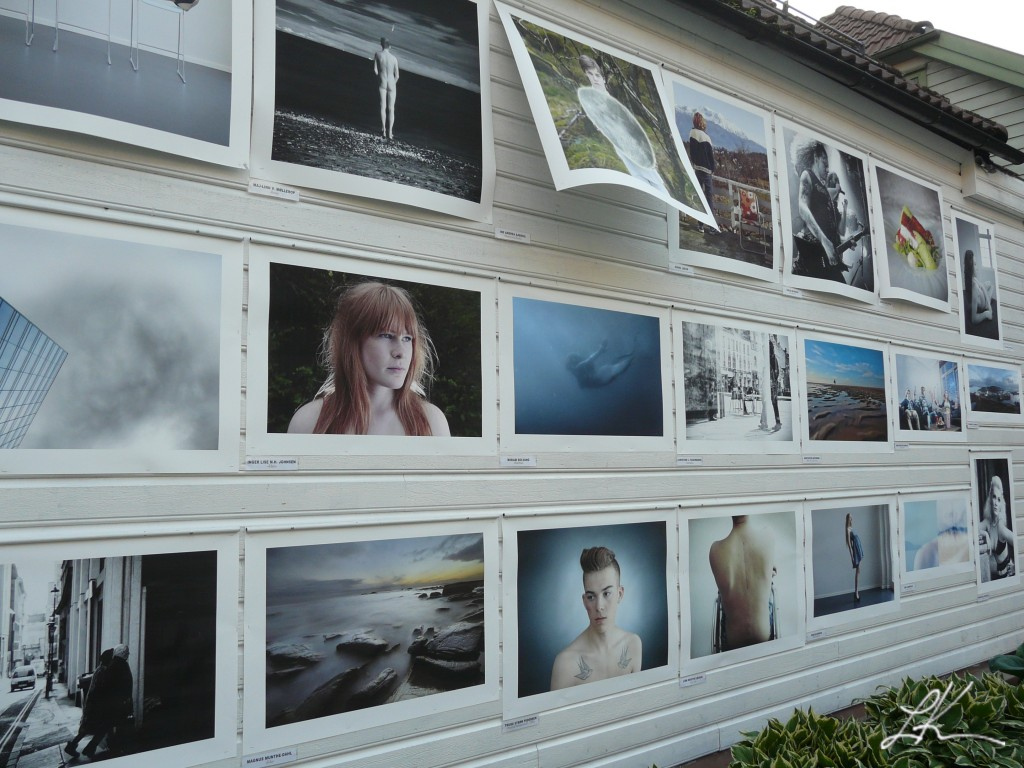 Photo: Outdoor photo gallery in Bergen, Norway.