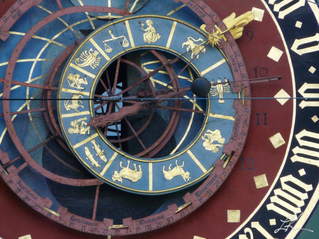 Photo: Clock With Zodiac Signs.